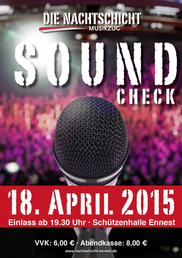 Soundcheck am 18. April