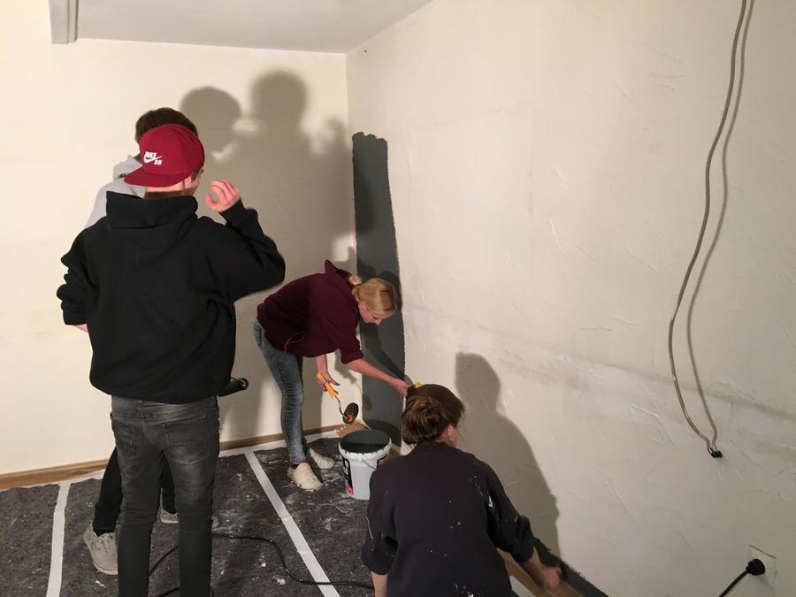 Renovierungsarbeiten im Jugendtreff