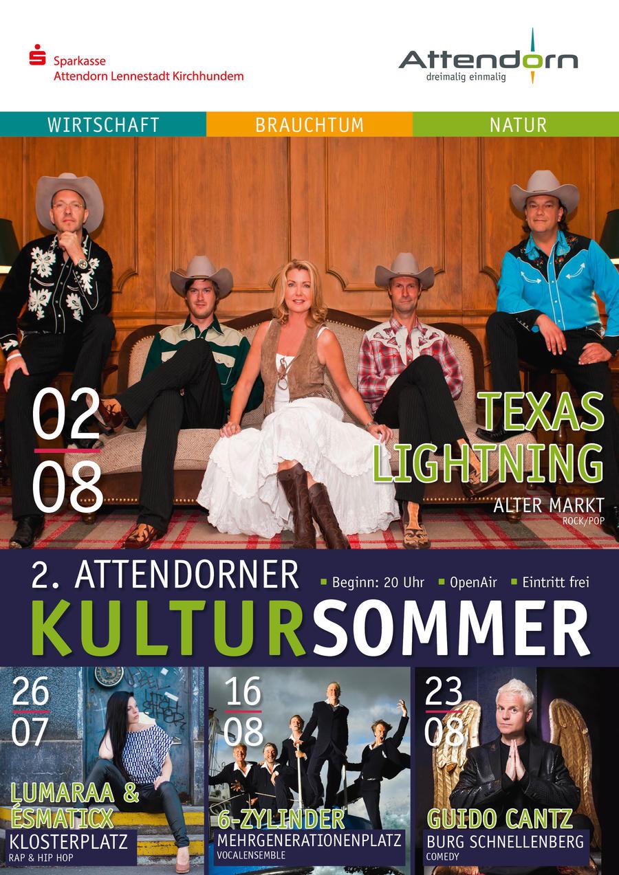 Bild vergrößern: Das Plakat zum 2. Attendorner Kultursommer 2017