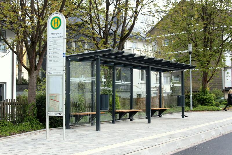 Eine Bushaltestelle in Attendorn
