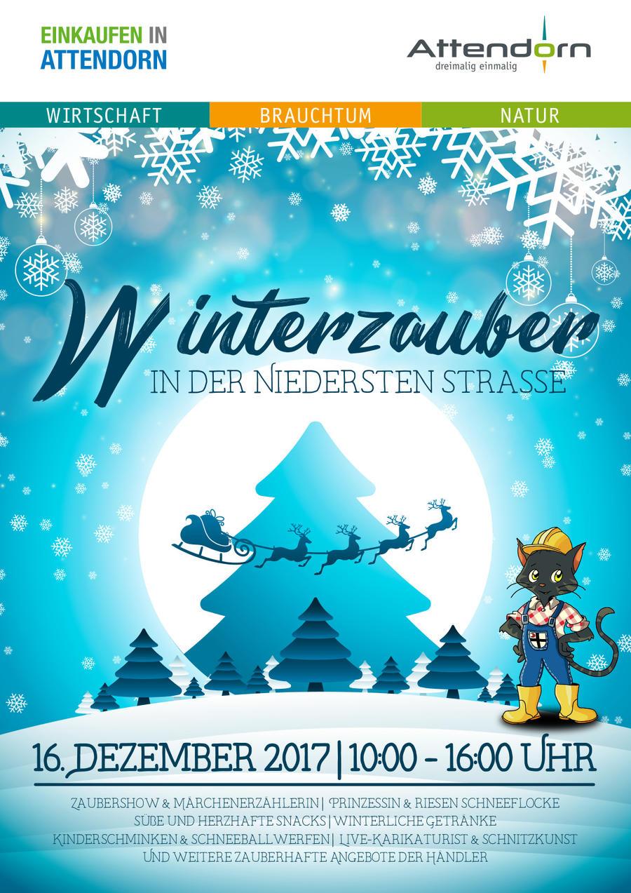 Bild vergrößern: Das Plakat zur Veranstaltung Winterzauber am 16.12.2017 in Attendorn