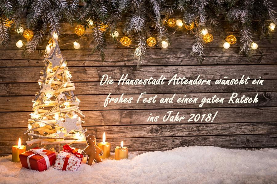 Frohe Weihnachten / Stadtverwaltung Attendorn