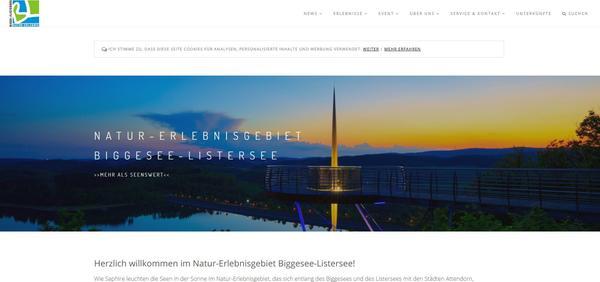 Neue Homepage des Natur-Erlebnisgebietes Biggesee-Listersee jetzt online