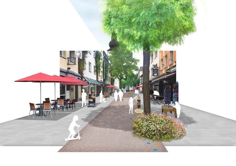 Bild vergrößern: Visualisierung der Kölner Straße in Attendorn