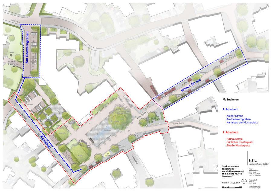 Bild vergrößern: Maßnahmeplan Umgestaltung Rathaus-Umfeld