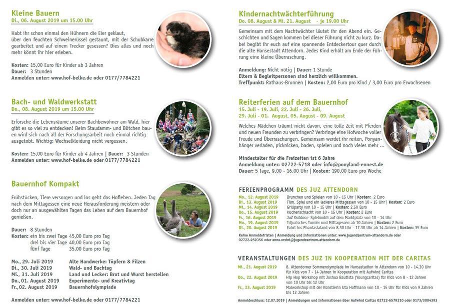 Sommerferienprogramm 2019